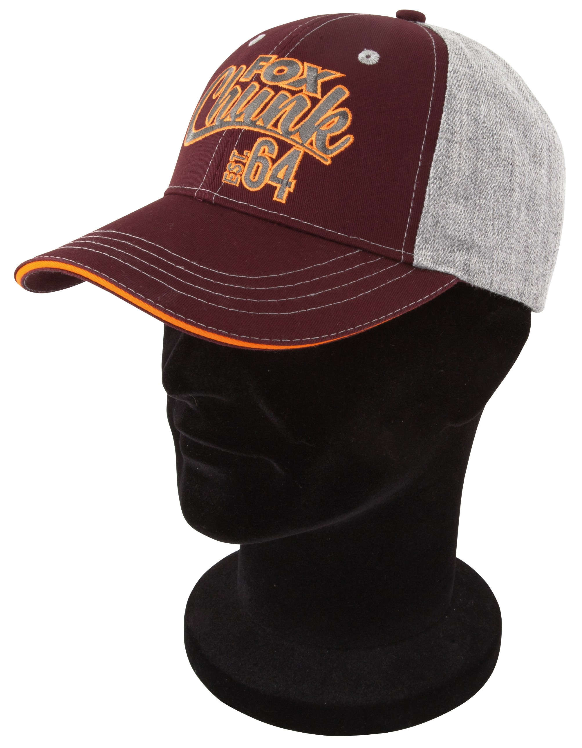 Fox - Chunk Grey Burgundy Orange Baseball Cap