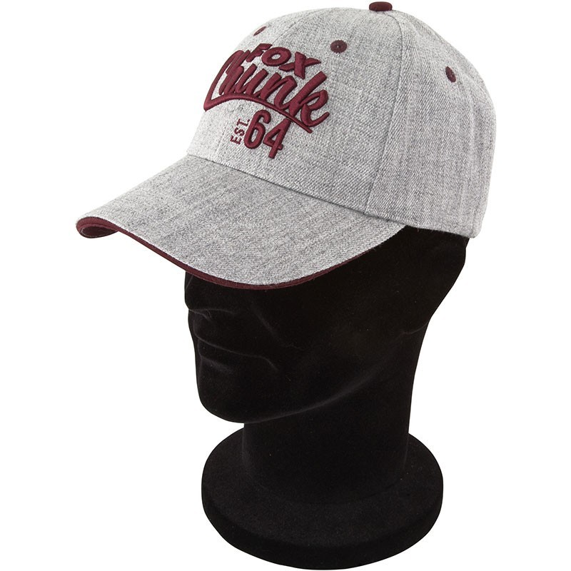 Fox - Chunk Grey Burgundy Twill Baseball Cap
