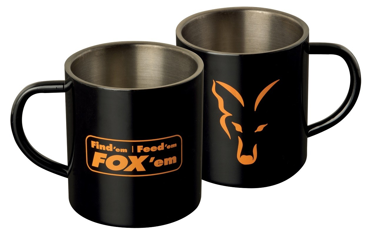 Fox - Stainless Black Mug XL 400ml