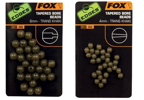Fox - Edges Tapered Bore Beads