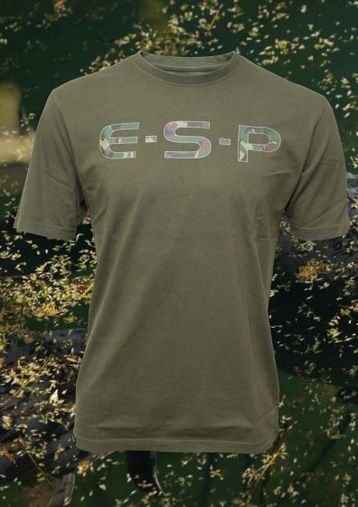 ESP - Olive Green Camo Logo T Shirt