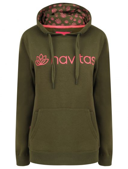 Navitas - Women's Green and Pink Lily Hoody