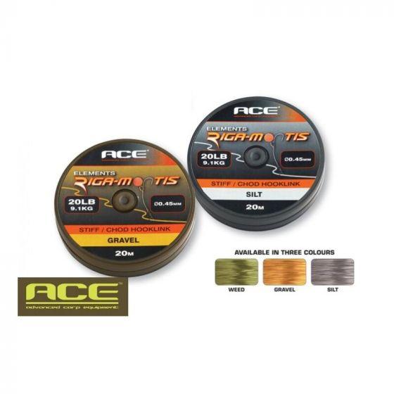 Ace - Riga-Mortis Stiff/Chod Hooklink Weed 20m