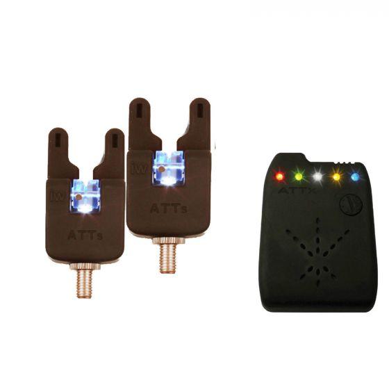 Gardner - ATTs Underlit Wheel Bite Alarm x 2 + Receiver