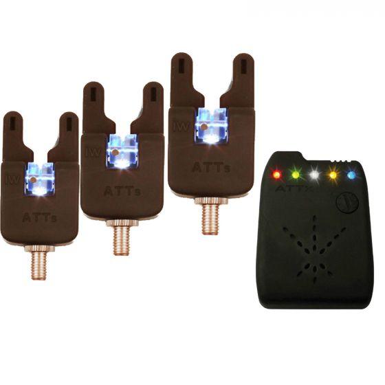 Gardner - ATTs Underlit Wheel Bite Alarm x 3 + Receiver