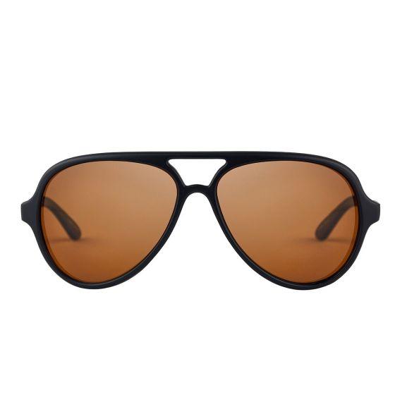 Fortis - Aviator Black Polarised Sunglasses