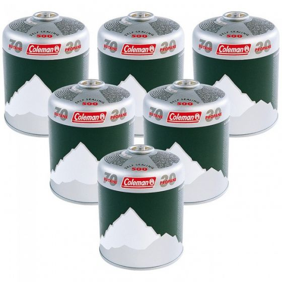 Coleman - Screw Top Gas Canister C500 x6