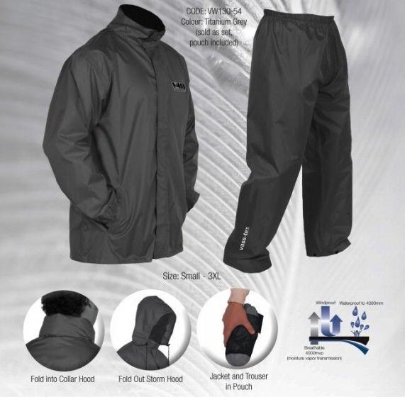 VASS - Grey Lightweight Jacket & Trouser Packaway Set