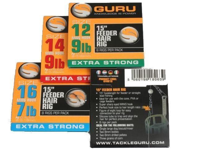 "Guru - 15"" Ready Tied Feeder Hair Rigs"