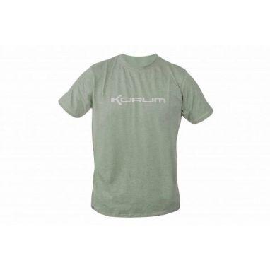 Korum - Heather Green Marl T Shirt