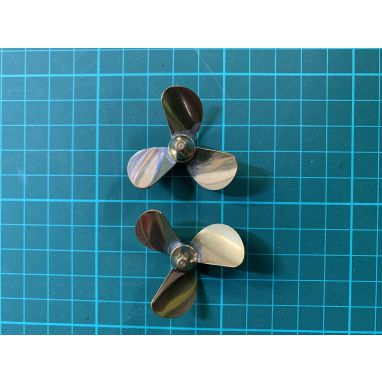 Toslon - X Boat Brass Props 3 Blade Pair