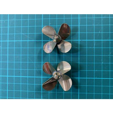 Toslon - X Boat Brass Props 4 Blade Pair