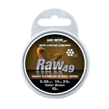Savage - Raw49 Uncoated Brown Wire Trace 10m