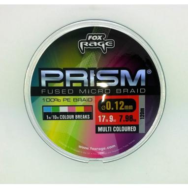 Fox Rage - Prism Fused Braid Multi Coloured 120m