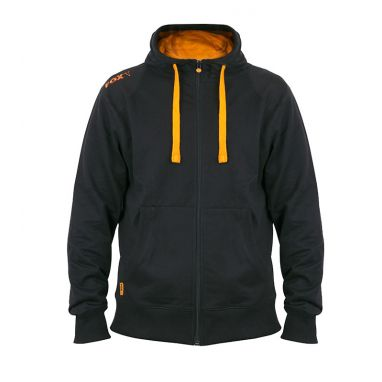 Fox - Black & Orange Lightweight Zipped Hoody