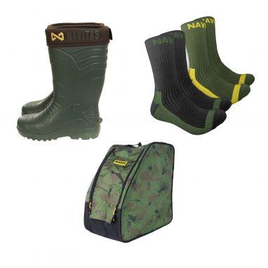 Navitas - Lite Insulated Wellies + Boot Bag + Boot Socks Bundle