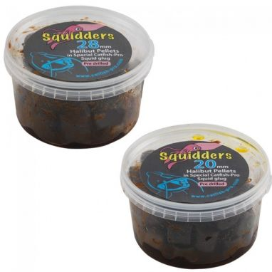 Catfish Pro - Squidders Drilled Pellets In Glug
