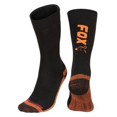 Fox - Black / Orange Thermolite Long Socks