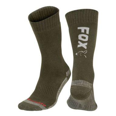 Fox - Green / Silver Thermolite Long Sock