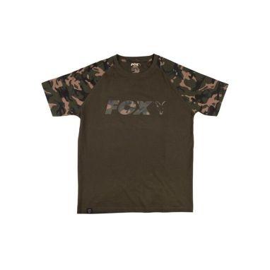 Fox - Khaki Camo Raglan T-Shirt