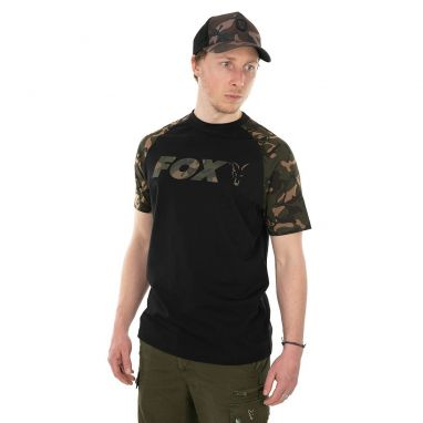 Fox - Black / Camo Raglan T-Shirt
