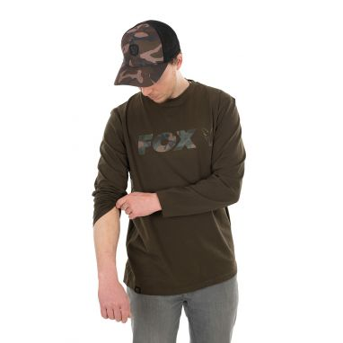 Fox - Khaki / Camo Long Sleeve T-Shirt - S