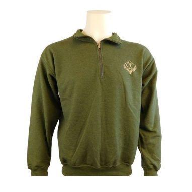 Cotswold Aquarius - Olive 3/4 Zipped Sweatshirt