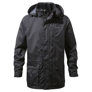 Craghoppers - Kiwi Long Interactive Waterproof Black Jacket