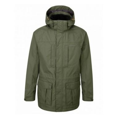 Craghoppers - Kiwi Long Interactive Waterproof Green Jacket