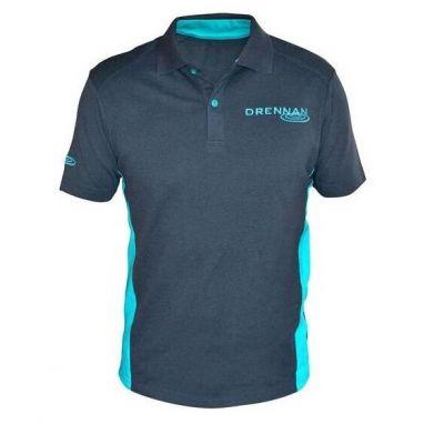 Drennan - Grey And Aqua Polo Shirt