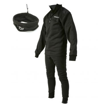 Daiwa - Black Sleepskin Thermal Suit + Neckwarmer