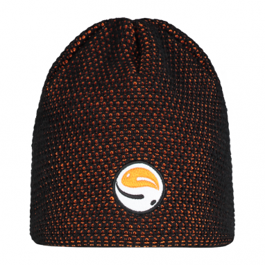 Guru - Black And Orange Skullcap Beanie