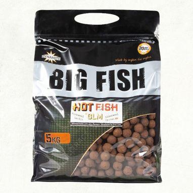Dynamite Baits - Big Fish - Hot Fish & GLM Boilies - 5kg 15mm