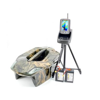 Toslon - X Boat 3D Forest Camo Ltd Edition With TF740 GPS Autopilot Fishfinder Mapping