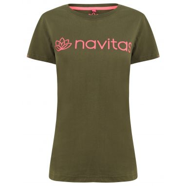 Navitas - Women's Green and Pink Lily T-Shirt