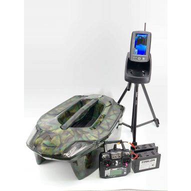 Toslon - X Boat Jungle Camo Ltd Edition With TF740 GPS Autopilot Fishfinder Mapping