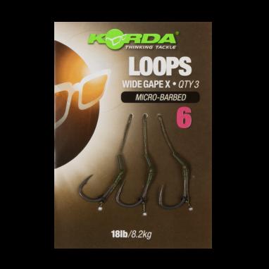 Korda - Wide Gape Loop Ready Tied Rigs