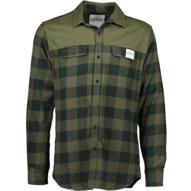 Aqua Products - Green Check Long Sleeve Flannel Shirt
