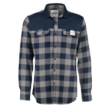 Aqua Products - Blue Check Long Sleeve Flannel Shirt