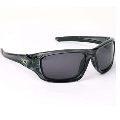 Matrix - Wraps Trans Black Polarised Sunglasses Grey Lens