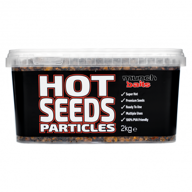 Munch Baits - Hot Seeds 2kg Particle Bucket