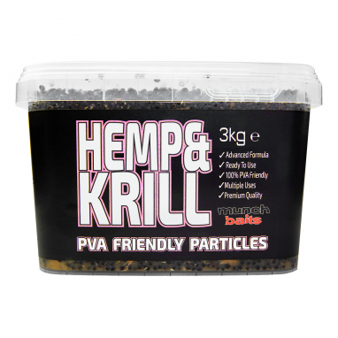 Munch Baits - Hemp and Krill 3kg Particle Bucket