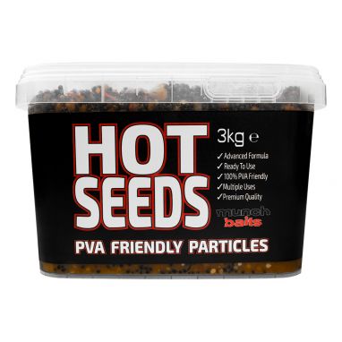 Munch Baits - Hot Seeds 3kg Particle Bucket