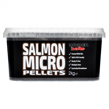 Munch Baits - Salmon Micro Pellets - 2kg Bucket