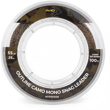 Avid - Outline Camo Mono Snag Leader 100m