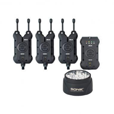 Sonik - SKX 3+1 Bite Alarm Set + Bivvy Lamp