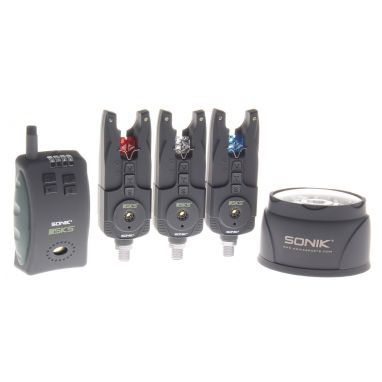 Sonik - SKS 3+1 Bite Alarm Set Free Light