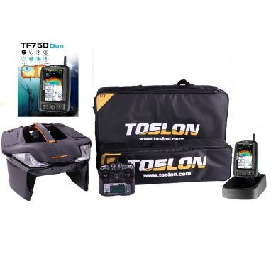 Toslon - X Boat With TF750 Duo GPS Autopilot Fishfinder 3D Mapping