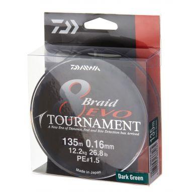 Daiwa - Tournament 8 Braid Evo 135m - Dark Green