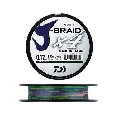 Daiwa - J Braid X4 Multi Coloured 300m
